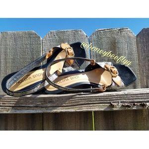Louis Vuitton Mini Lin Monogram Slingback Sandals